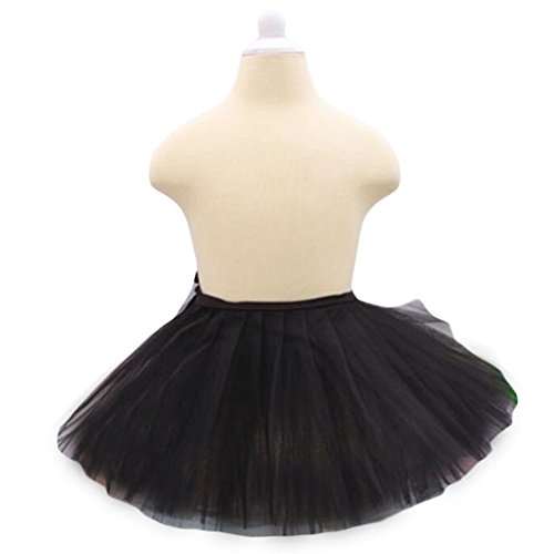 Three Layers Yarn Dance Skirt Kid Swan Lake Costumes Ballet Dress-Black (Swan Ballet Costume)