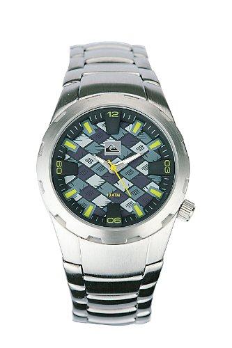 Quiksilver - Reloj para niños de cuarzo, correa de acero inoxidable color plata
