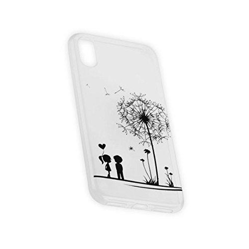 Ultra Slim TPU Case Handy Tasche für Apple iPhone X Cover Schutzhülle Hülle Love