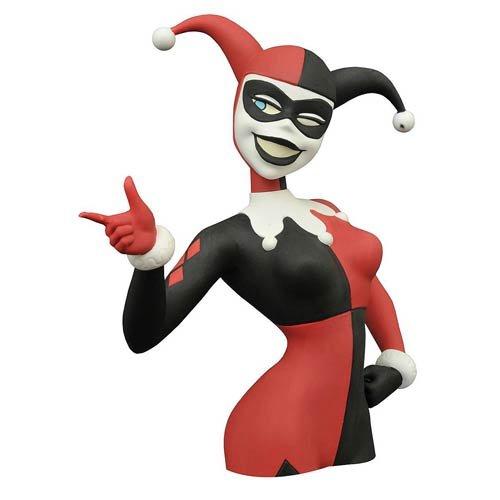 DIAMOND SELECT TOYS Batman: The Animated Series: Harley Quinn Vinyl Bust Bank Toy