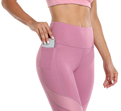 ATTRACO Leggings for Women High Waist Yoga Pants with Pockets Workout Tummy Control Legging