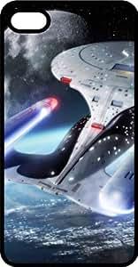 Enterprise Star Trek Spaceship Flying Black Plastic Case for Apple iPhone 5c