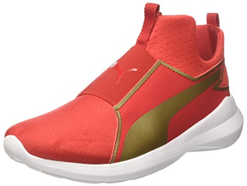 Gold Mid WNS puma 02 Rouge Basses Red Team Femme High Puma Sneakers Rebel Summer Risk AOWTRW5wqF