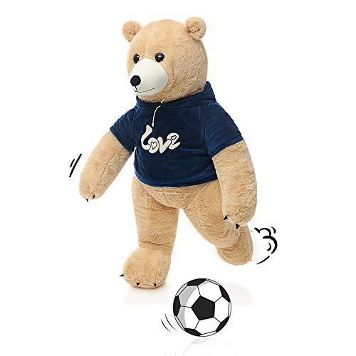 MorisMos Stuffed Polar Bear Plush Toys,Standing Tan Polar Bear Dressed in Hoodie,Giant Teddy Bear for Kids,Boys,Girlfriend,35 Inches ()