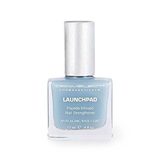 DERMELECT COSMECEUTICALS Launchpad Nail Strengthener Base Coat - Restores Strength and Flexibility, Helps Resist Yellowing & Extends the Life Of Your Manicure (0.4 Fluid Ounce / 11 Milliliter)