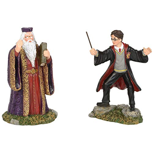 Department56 Potter Village Accessories Harry and Headmaster Figurine Set, 3.15 , Multicolor