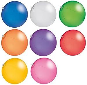 R5C1 Wasserball Strandball ca. 26cm Wasserspielzeug TRANSPARENTE Farben G1...