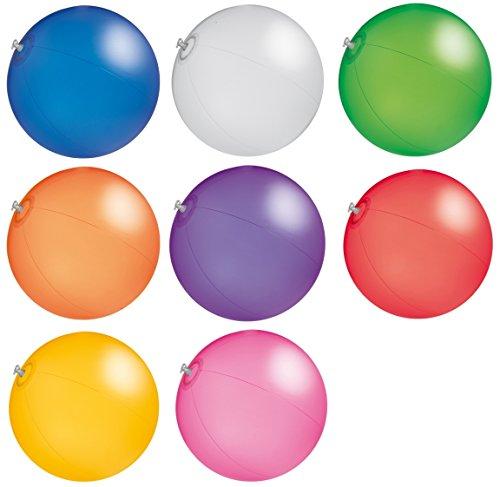 R5C1 Wasserball Strandball ca. 26cm Wasserspielzeug TRANSPARENTE Farben G1 (R519 Weiss)