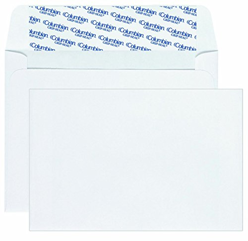 Invitation Seal Columbian Envelopes Grip - Columbian Invitation Envelopes, A9, Grip-Seal, 5.75 x 8.75 Inch, White, 100 Per Box (CO468) 2-Pack