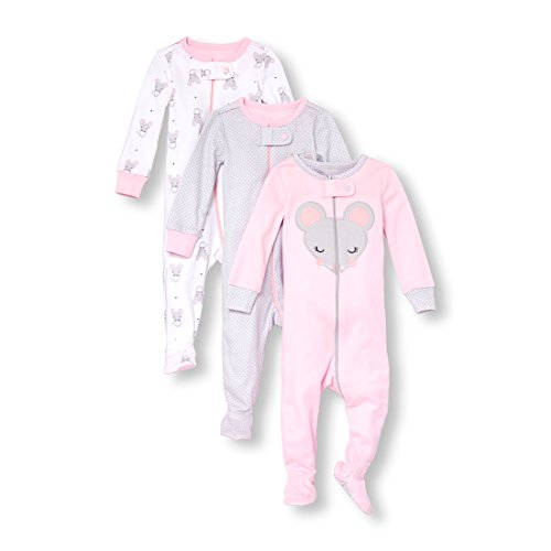 The Children's Place Baby Girls 3 Piece Stretchie Bundle