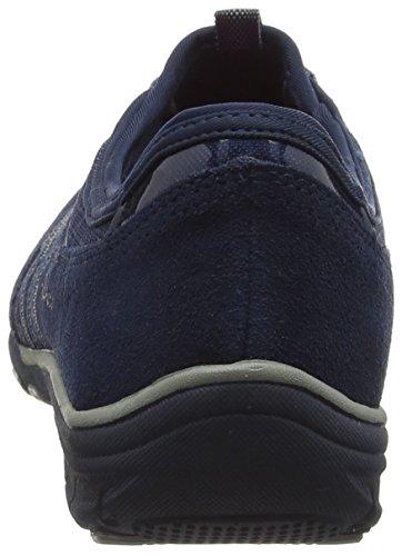 Skechers Conversations, Baskets Basses Femme Bleu - Bleu (Bleu Marine /Gris)