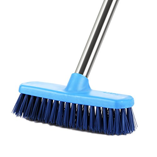 YCUTE Scrub Brush 47'' Removable Stainless Steel Long Handle Bristle Brush with 7.4