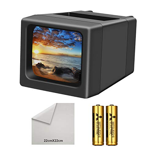 LED Lighted Illuminated 35mm Slide Viewer(2AA Batteries Included) (Vue Scanner Pana Slide)