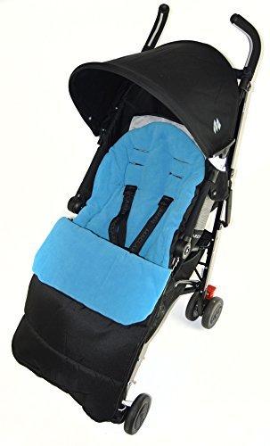 Saco/Cosy Toes Compatible con Maclaren Globetrotter carrito de bebé, color azul: Amazon.es: Bebé