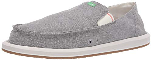 Sanuk Men's Pick Pocket Chambray Loafer Flat, Charcoal, 9 M US