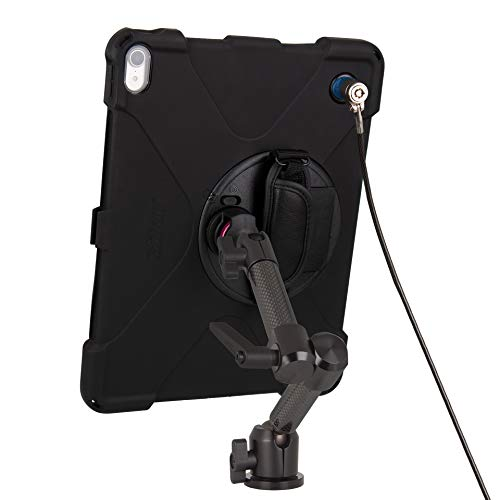 The Joy Factory MagConnect Carbon Fiber Wall/Counter Mount with aXtion Bold MPS Water-Resistant Rugged Security Case for iPad Pro 12.9'' [3rd Gen] Built-in Screen Protector, Hand Strap (MWA4104MPS) by The Joy Factory (Image #2)