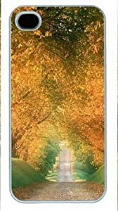 Autumn Road Hard Shell White Sides Case for iPhone 6 plus 5.5 Yang's Case