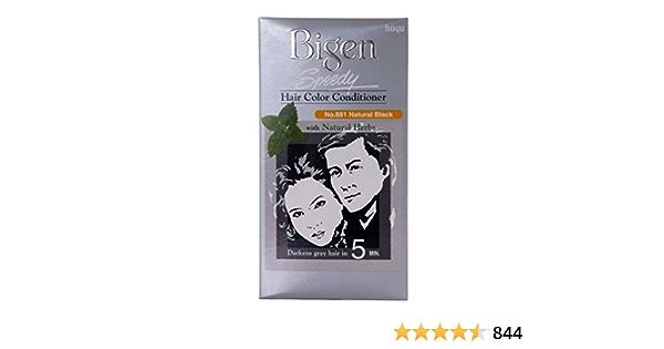 Bigen Speedy Hair Color Natural Black 881: Amazon.es: Belleza