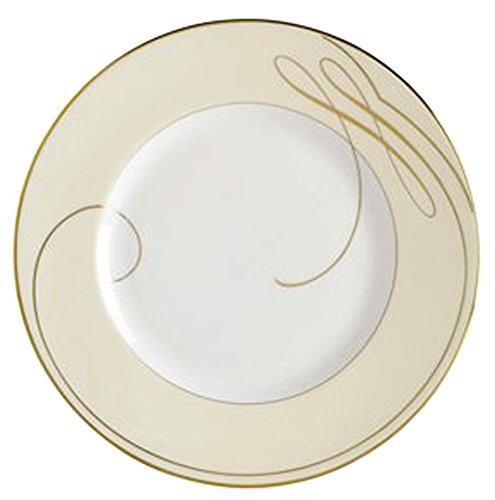 Waterford Ballet Ribbon Plate Accent - Waterford Ballet Ribbon Gold Champagne Accent Luncheon Plate Made in U.K