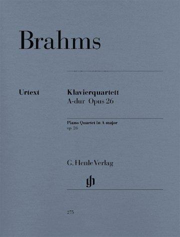 Brahms: Piano Quartet A major op. 26 (Henle Music Folios) pdf