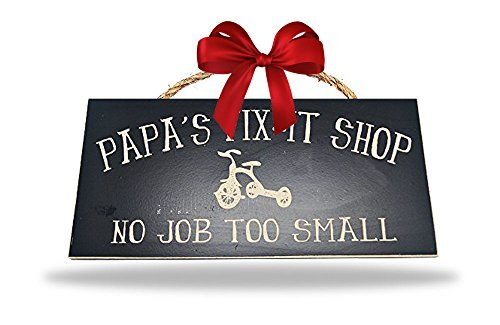 Man Cave and Garage Wall Decor Signs (Papa's Fix-It Shop) - ***HANDMADE IN THE USA BY A LOCAL ARTIST*** ***UNIQUE GIFT FOR ANY MAN CAVE OR GARAGE*** ***HIGH QUALITY MATERIALS AND CRAFTSMANSHIP*** - living-room-decor, living-room, home-decor - 41O6iFGMBgL -