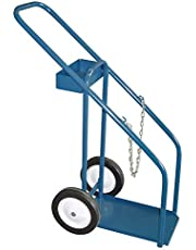 "Gas Cylinder Carts, Semi-Pneumatic Wheels, 12"" W x 16"" L Base, 1000 lbs."