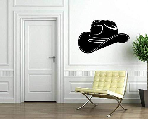 Cowboy Hat Texas Lone Star State Wall Decor Mural Vinyl Decal Art Sticker VK916