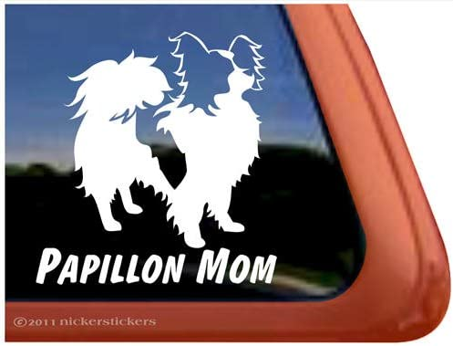 Papillon Mom Sticker Die Cut Vinyl