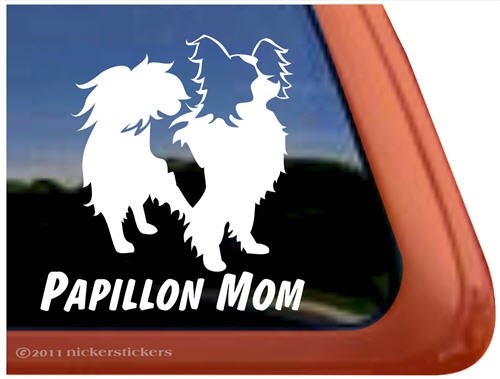 Papillon Vinyl Window Decal Sticker