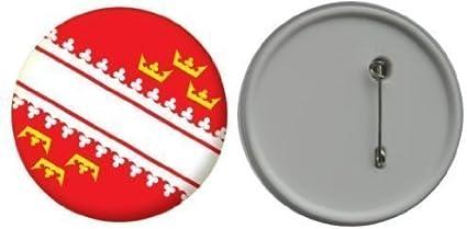 MadAboutFlags Button//badge drapeau France Haute-Normandie 58mm