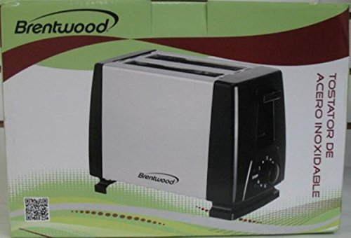 Brentwood 2 Slice Toaster - Stainless Steel