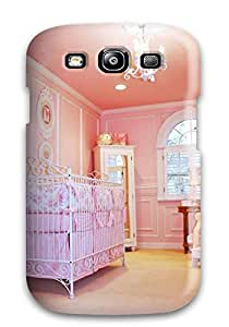 8923399K60558224 Protective Tpu Case With Fashion Design For Galaxy S3 (pink Walls And Ceiling In Baby Girl Nursery)