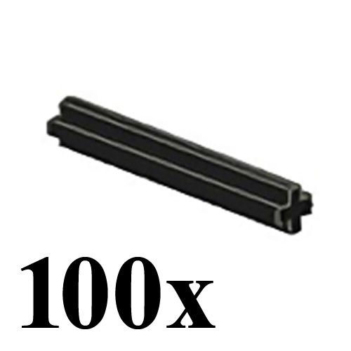Cross Axle - LEGO TECHNIC 100 pcs BLACK AXLE SIZE 4 STUDS STUD LENGTH Cross Rod Short Mindstorms robot motor part piece 3705 NXT ev3 robotics