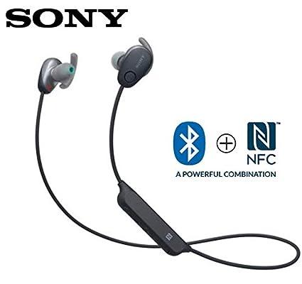 5c63e55b9a9 Amazon.com: Sony WI-SP600N Black Premium Waterproof Bluetooth Wireless  Extra Bass Sports In-Ear 6 Hr Of Playback Headphones/Microphone  (International ...