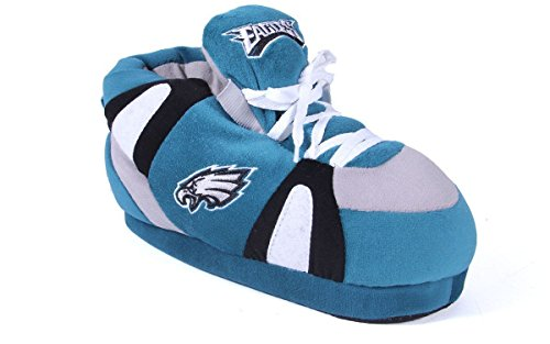 (PHI01-3 - Philadelphia Eagles - Large - Happy Feet & Comfy Feet NFL Slippers )