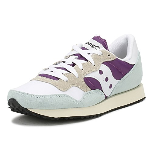 Saucony Women's DXN Vintage Cross Trainers Multicolour (White/Purple/Light Blue 25) dtMy5b1rx