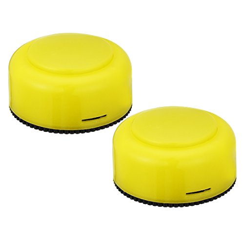 uxcell Tap Lights Battery Powered Touch Sensor LED Lamp Push Night Light Wireless Stick-on 1.8inch Yellow Colored 2 Packs for Closet Cabinet Bedroom Storage Shed Hallway Stair Car