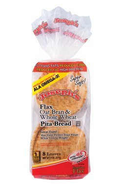 (Joseph's Flax, Oat Bran and Whole Wheat Flour MINI Pita Bread 8)