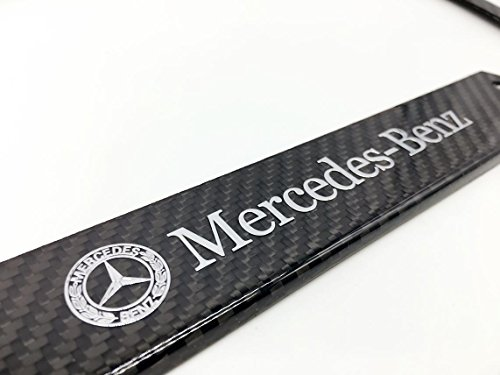 Mercedes benz mb mercedes benz amg logo emblem full carbon for Mercedes benz license plate logo