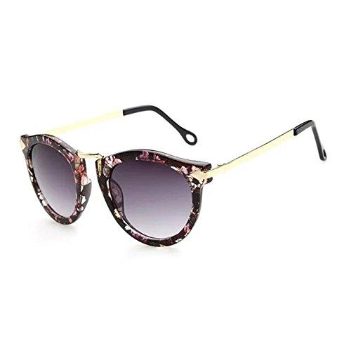 EYX Formula European version Vintage Classic fashion Round Arrow sunglasses ,Colorful Retro fancy frame Polarised Reflective sunglasses for (Costume Direct New Business)