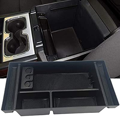 JOJOMARK for 2020 GMC Sierra 1500 Accessories Chevy Silverado 1500 Center Console Organizer Tray, Also for 2020 Chevy Silverado/GMC Sierra 1500/2500 HD/3500 HD -Full Center Console Models Only: Automotive