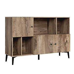 Homfa Bibliothèque Livres Commode Armoire de Rangement sur Pied Meuble TV pour Salon avec 3 Portes 4 Cubes Bois…