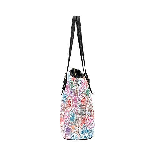 Handväska arkitektur konst retro europeisk karta läder handväskor väska orsaksala handväskor dragkedja axel organiserare för damer flickor kvinnor crossbody resväskor