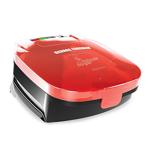 George Foreman GR1036BTR 5-Minute Burger Grill, Red