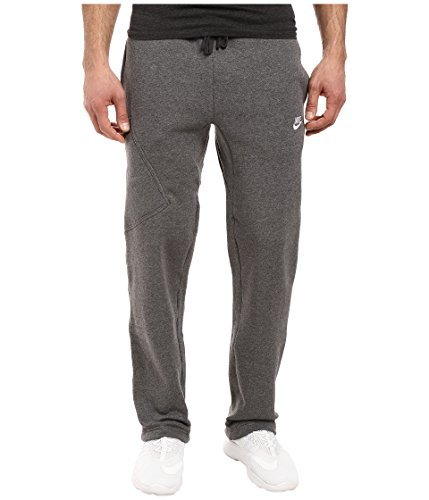 Nike Mens Open Hem Fleece Pocket Sweatpants Dark Grey/White 823513-071 Size X-Large