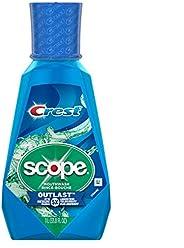 Crest Scope Outlast Mouthwash for Fresh Breath, Peppermint, 1 L