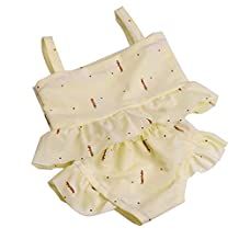 Dovewill Adorable Shoulder Strap Swimwear Swimsuit Bathing Suit Outfit for 18inch American Girl Journey Dolls Clothing
