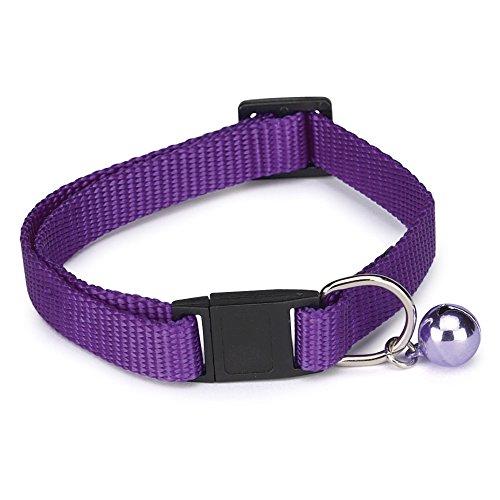 Guardian Gear Nylon Cat Collar, 8-12-Inch, Sparkling Grape