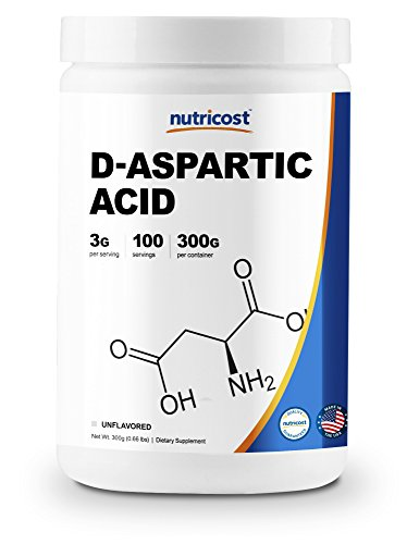 Nutricost D-Aspartic Acid (DAA) Powder 300G - Pure D Aspartic Acid by Nutricost
