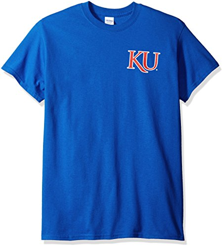 New World Graphics NCAA Oval Label Short sleeve, Medium, Royal Blue